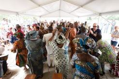 A true celebration --- our first Eye program patients, some of whom had been blind for nearly 40 years, celebrated regaining their sight.